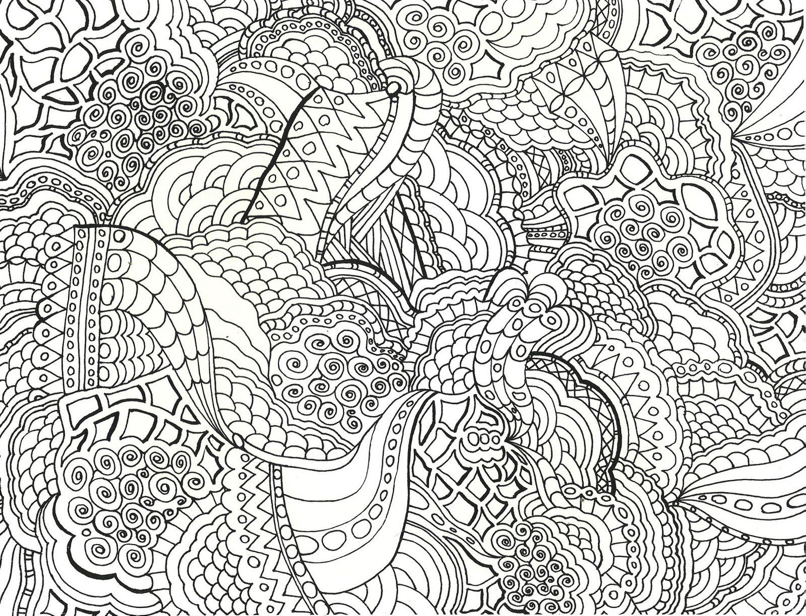 Printable Zentangle Coloring Pages Free - Coloring Home