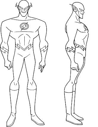 The Flash Free Coloring Pages