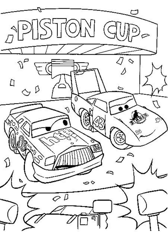 Coloring Pages Cars Disney