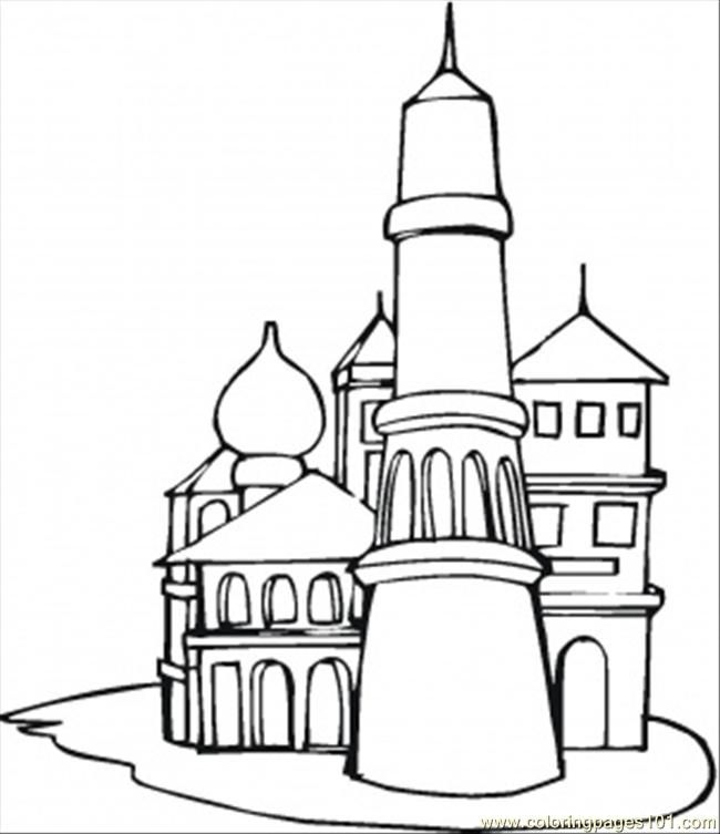 14 Pics of Russian Architecture Coloring Pages - St. Basil's ...