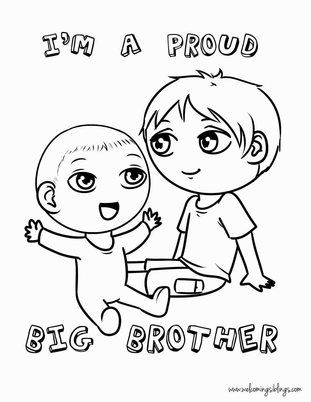 Big Sister Little Brother Coloring Pages