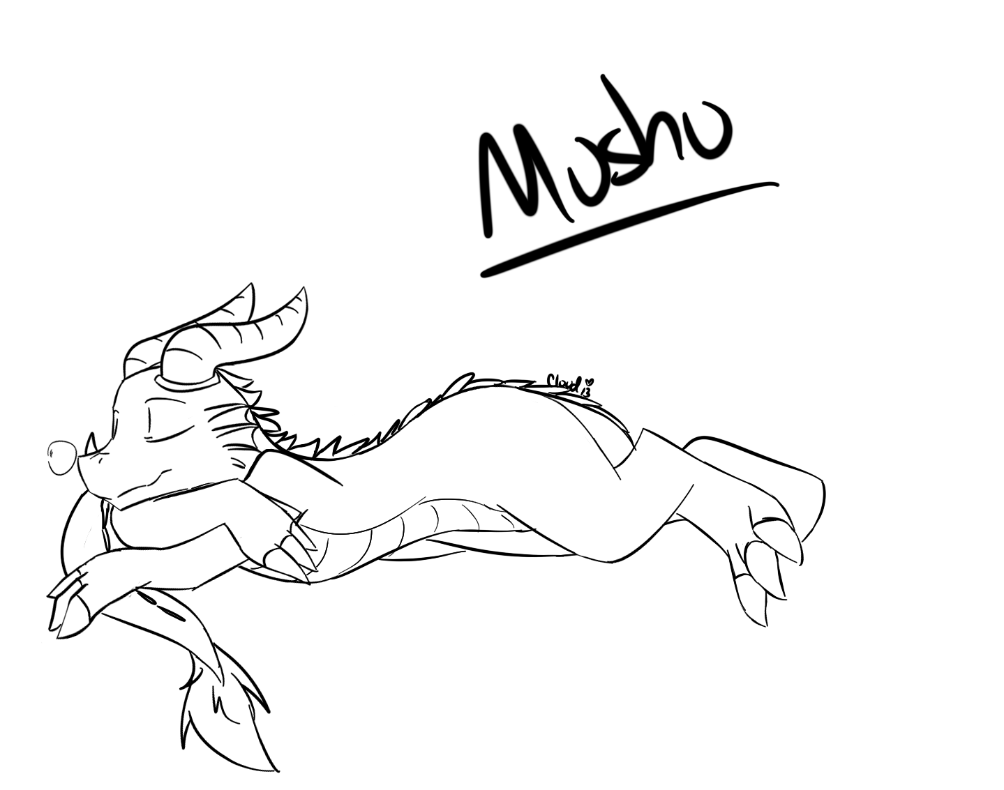 Coloring Pages Mushu Coloring Pages mushu coloring page az pages sleep mulan and 6014 mushu