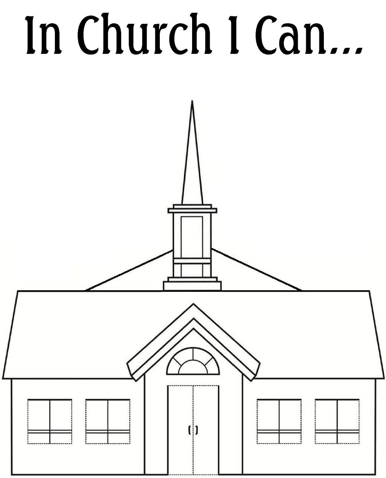 Coloring Pages Of Families Going To Church