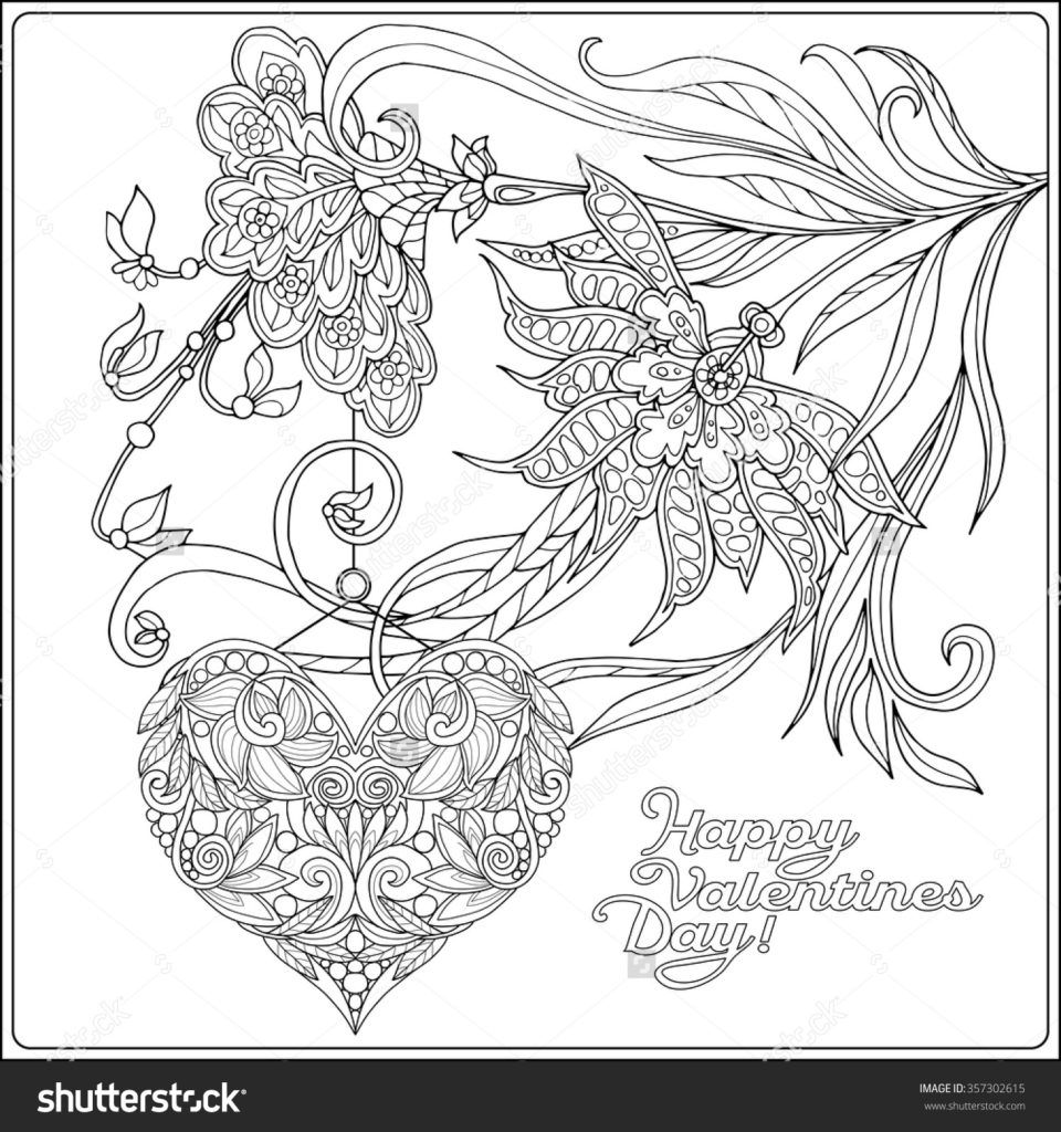 beautiful free valentines coloring pages - photo#14