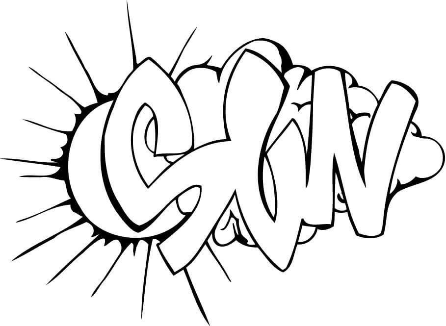 Graffiti Coloring Pages For Kids