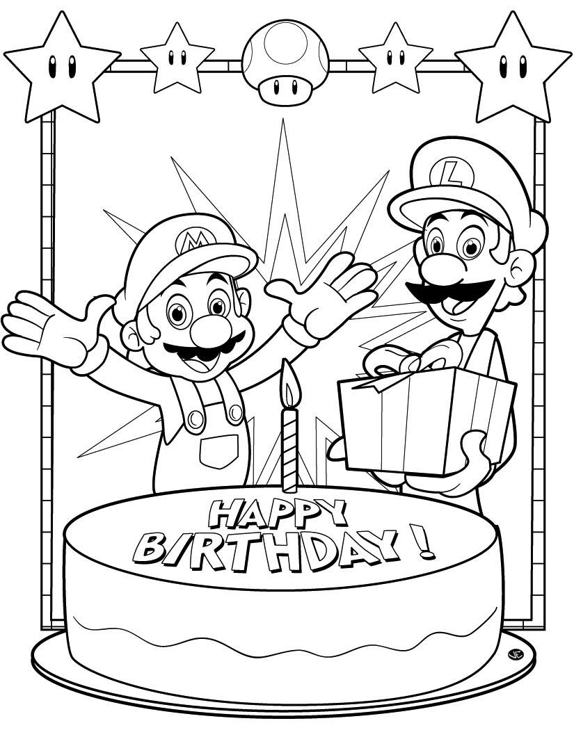 coloring : Nintendo Coloring Pages Awesome Free Printable Happy Birthday  Coloring Pages For Kids Nintendo Coloring Pages ~ queens