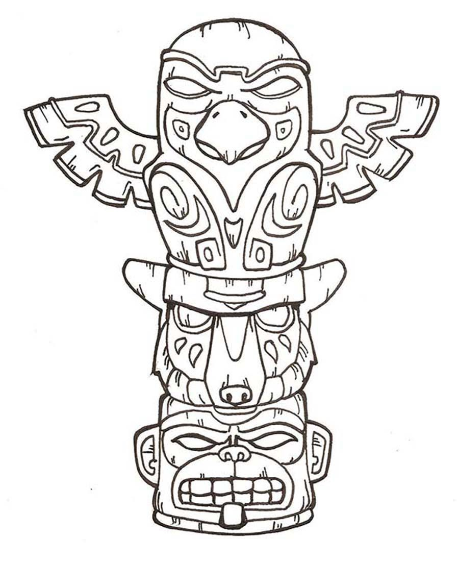 Coloring Pages Of Totem Poles - Coloring Home