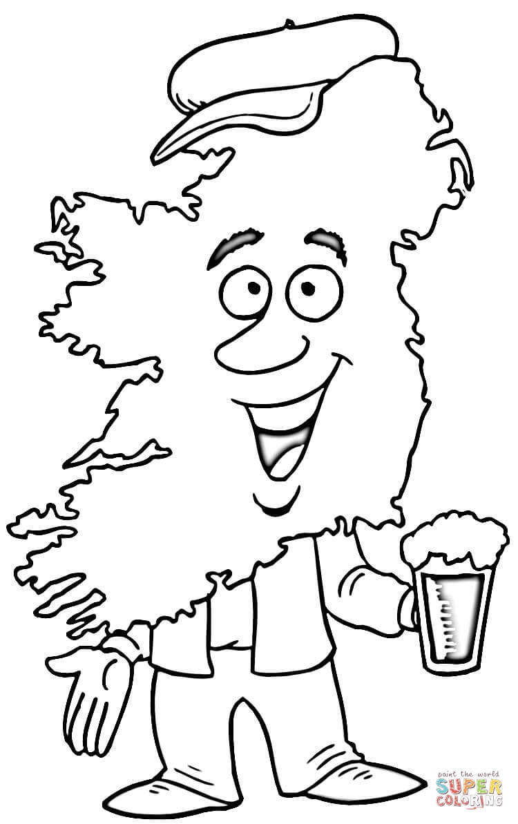 Map Of Ireland Coloring Page Coloring Home