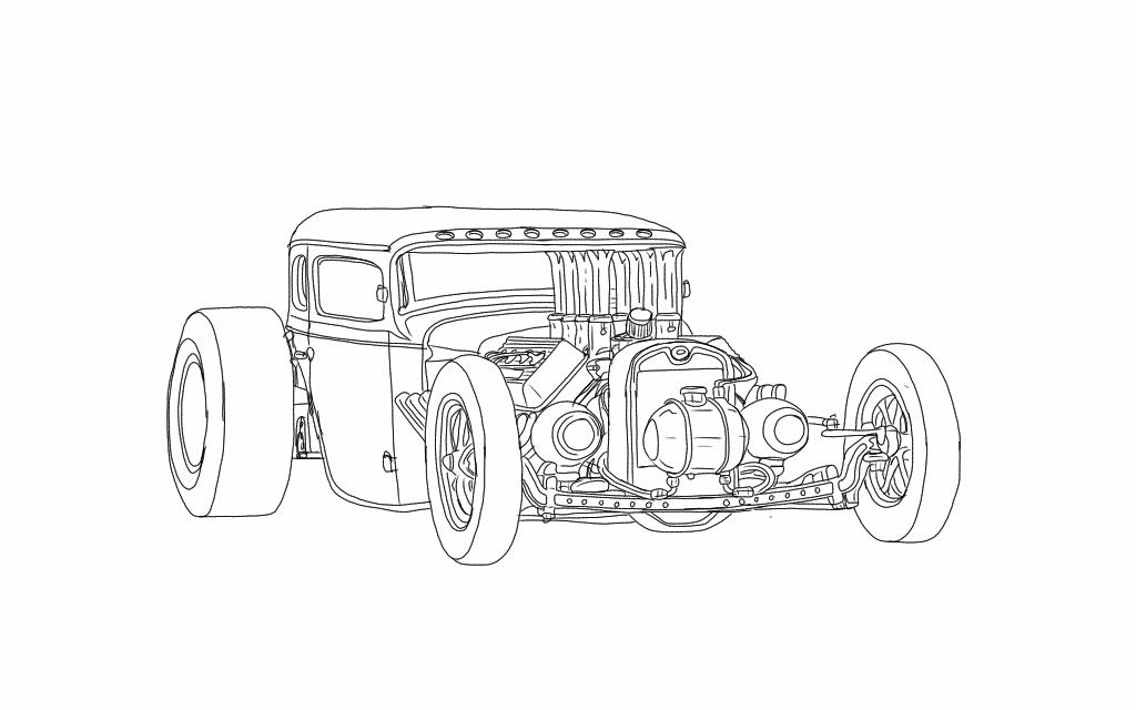 hot rod coloring pages - photo#16
