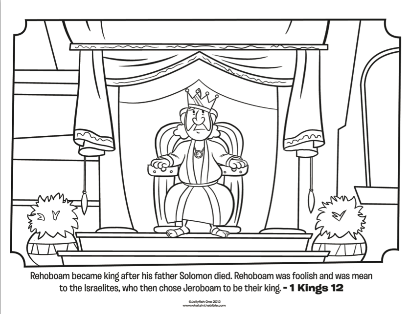 King Solomon Coloring Page - Coloring Home