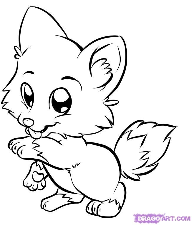Cute Animals Coloring Pages: Fox