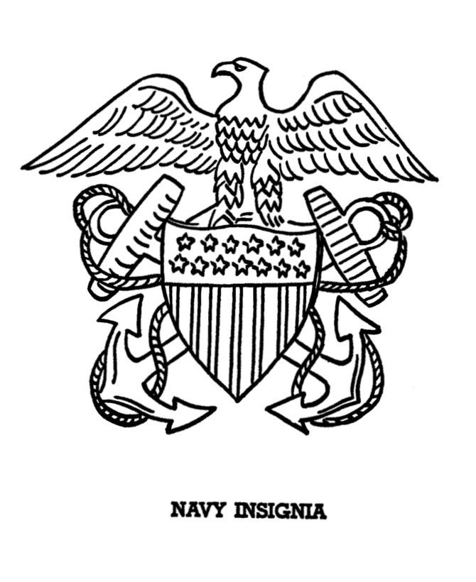 Military Emblems Coloring Pages