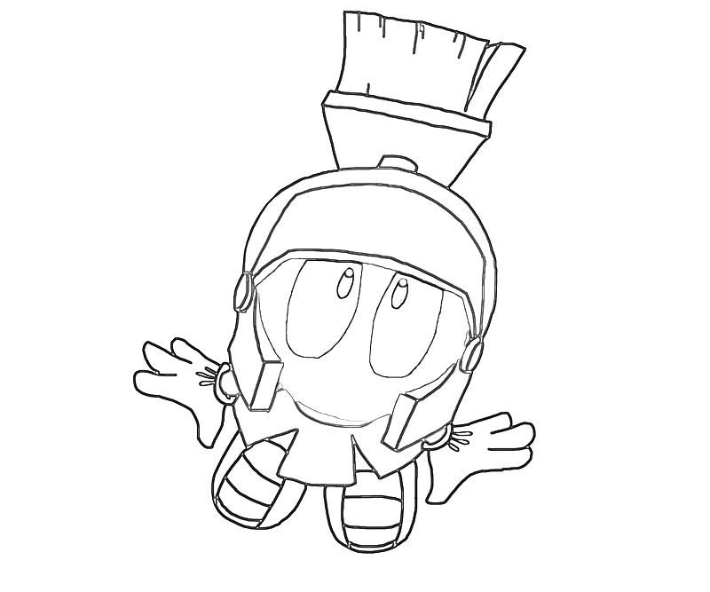 Marvin The Martian Coloring Page Az Coloring Pages Marvin The Martian Coloring Pages