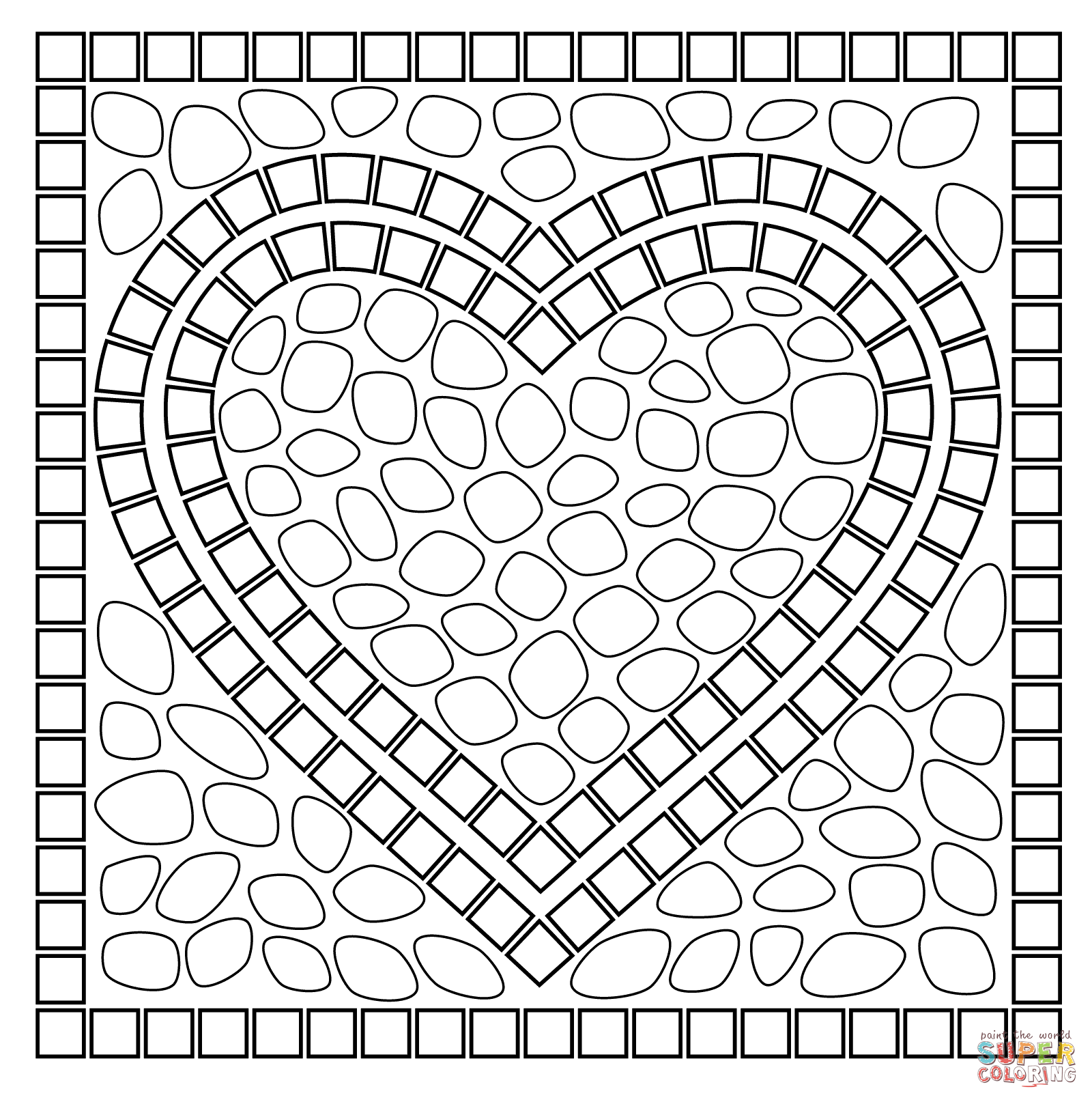 It's just a picture of Crush mosaic coloring pages