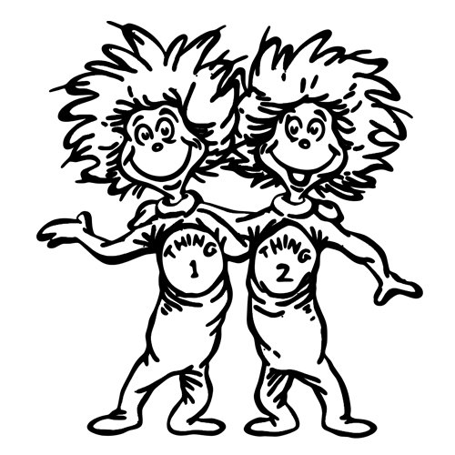 Free Coloring Pages Of Thing One And Thing 2 Thing 1 And Thing 2 Coloring Pages