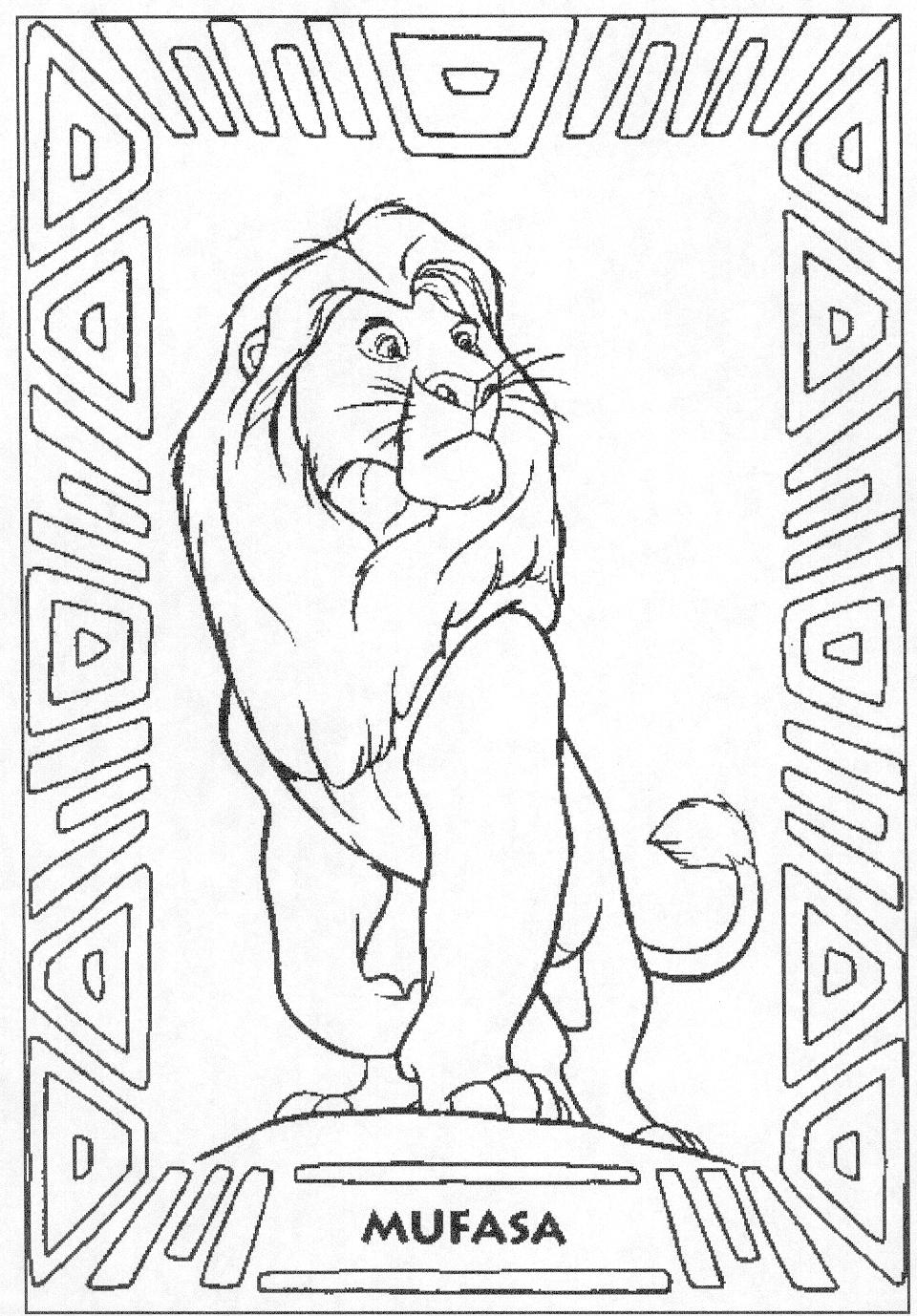 The Lion King Coloring Pages Mufasa - Coloring Home