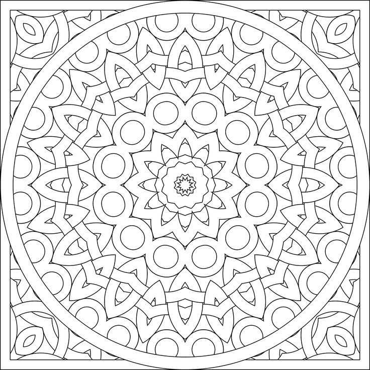 Kaleidoscope coloring pages | Free Coloring Pages | 736x736
