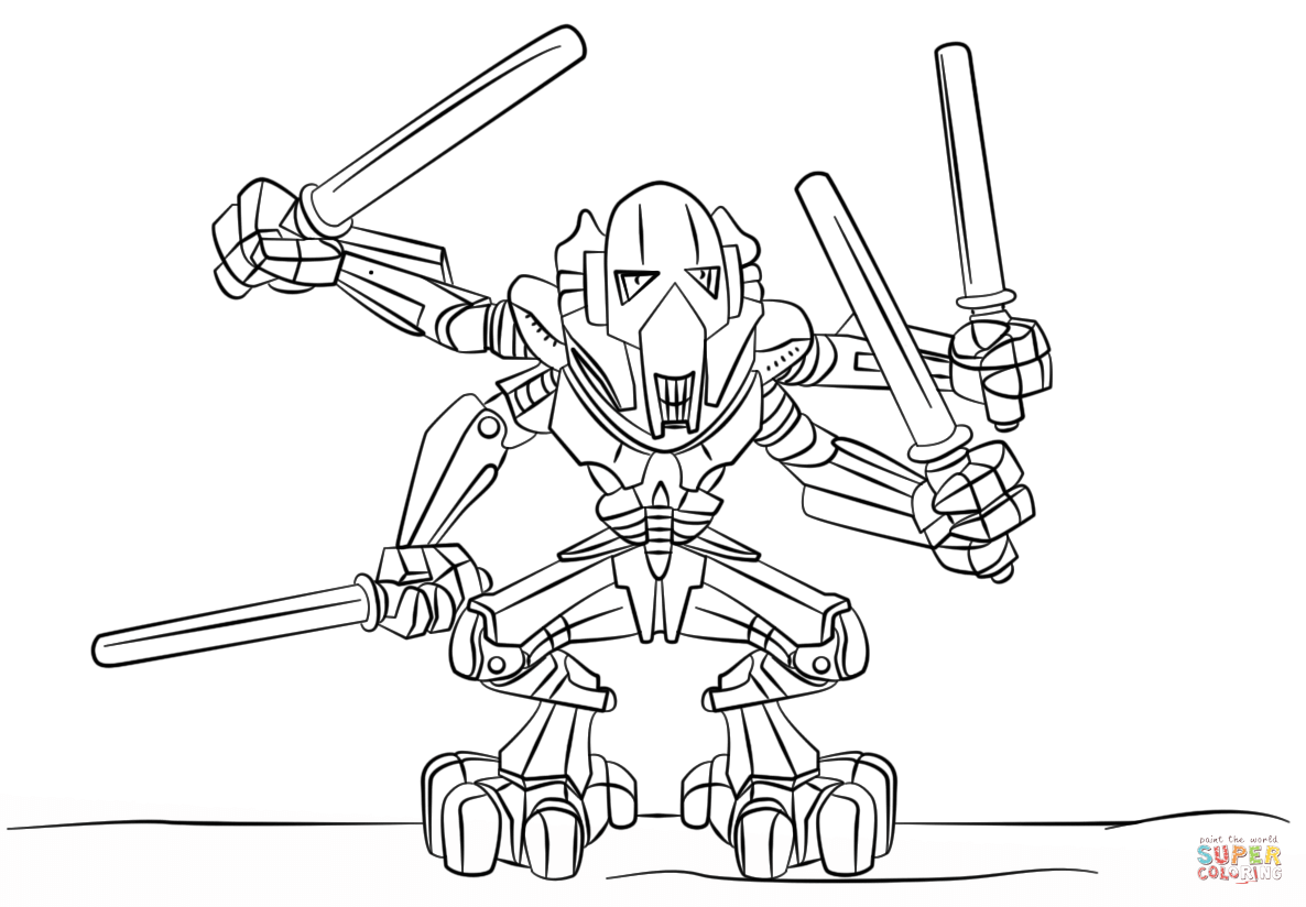 General Grievous Coloring Pages Printable - Coloring Home