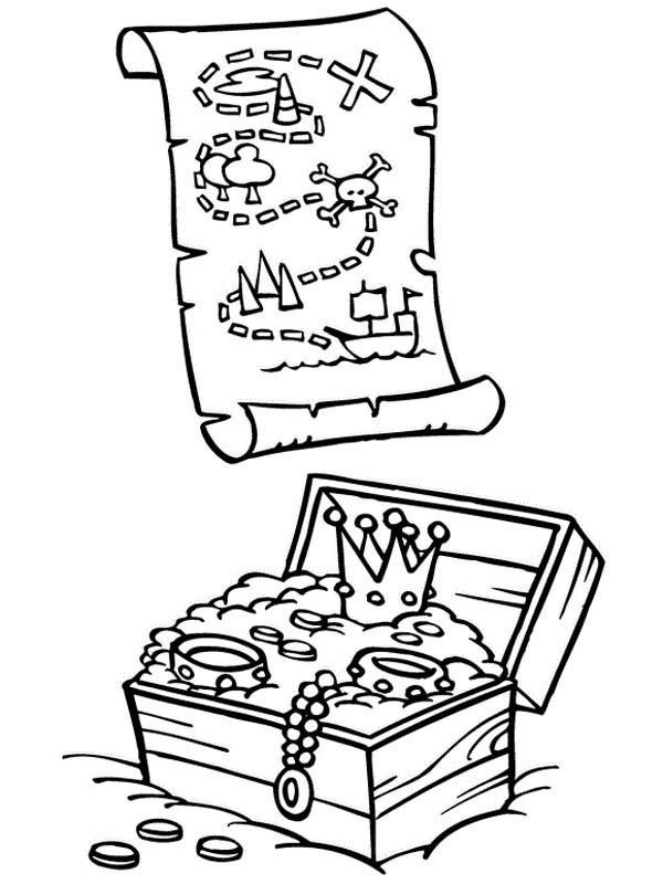 Pirate Treasure Coloring Page Coloring Home