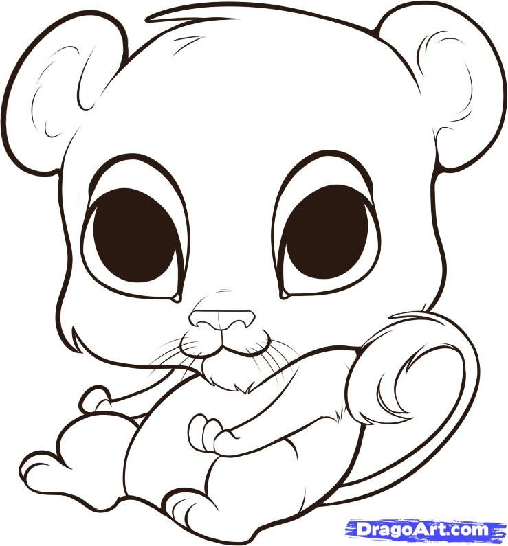 Cute Lion Coloring Page - Coloring Home