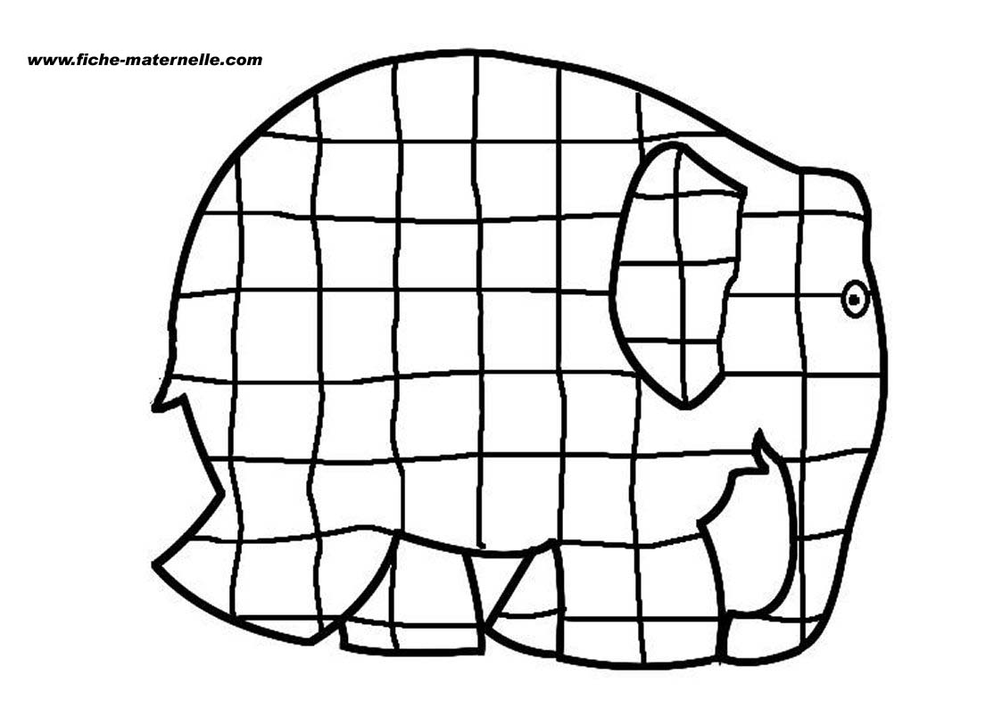 Elmer By David Mckee Coloring Page