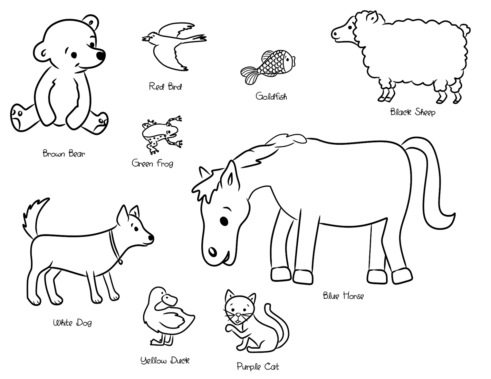 brown bear carle coloring pages - photo#2