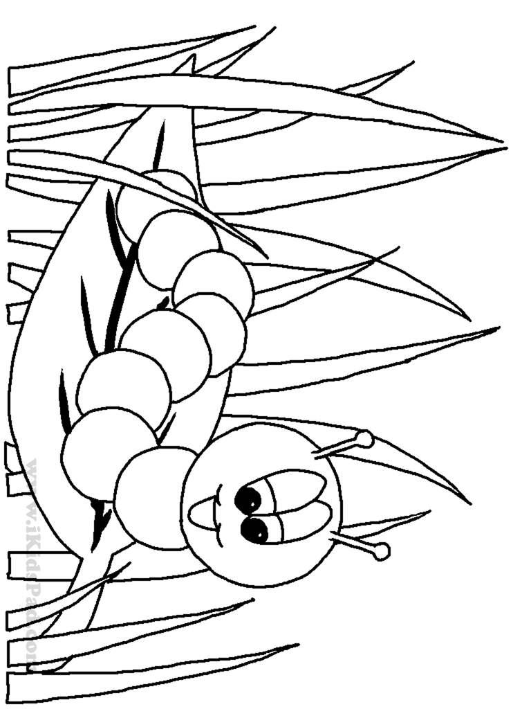 Book worm coloring pages - Free Printable Cartoon Picture Coloring Book For Kids