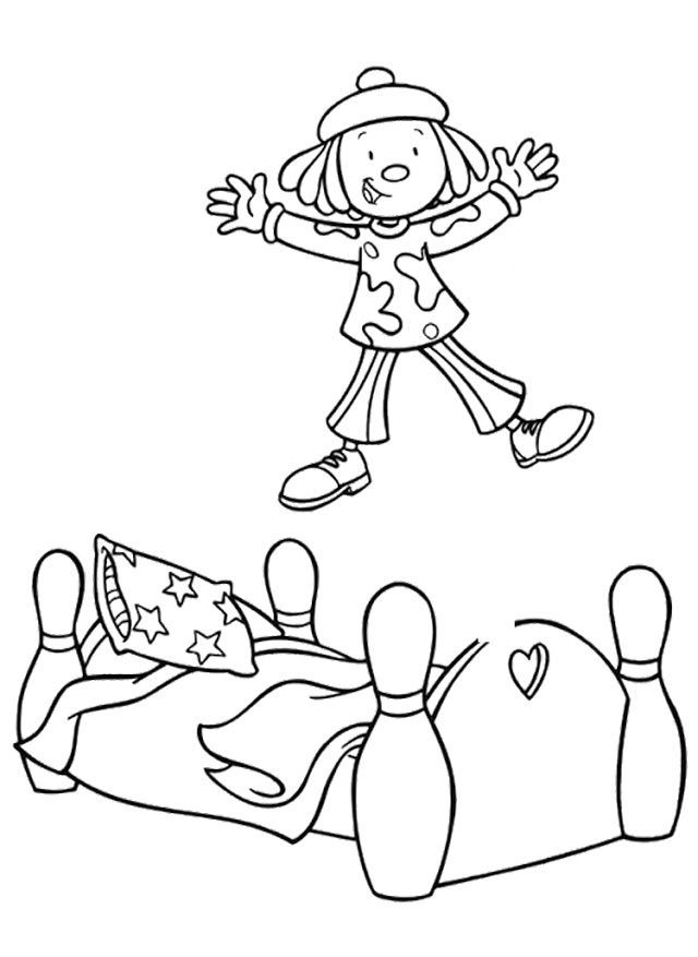 Jump Coloring Page - AZ Coloring Pages