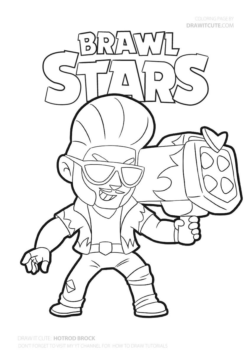 Hot Rod Brock coloring page #brawlstars #coloringpages ...