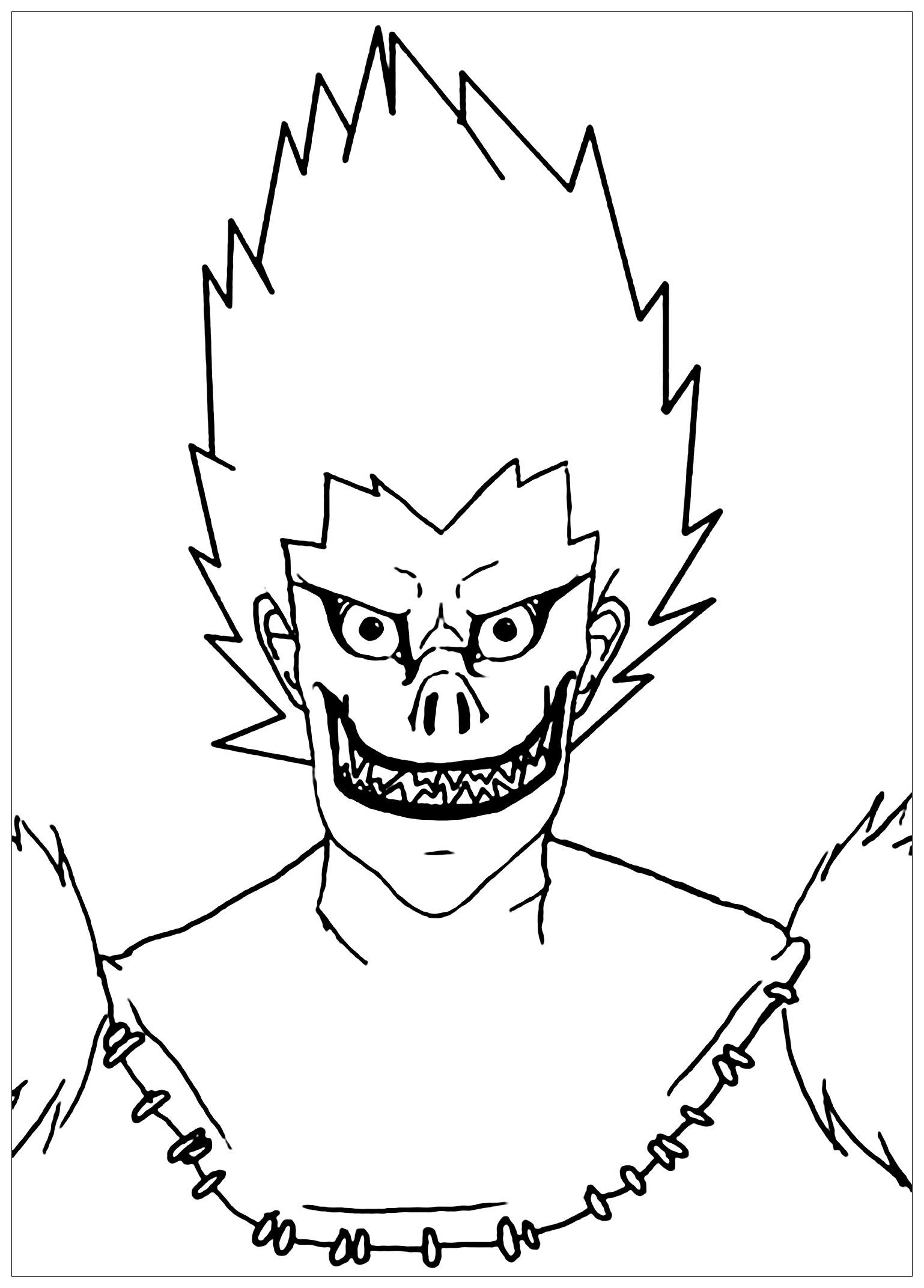 Death note to download for free - Death Note Kids Coloring Pages