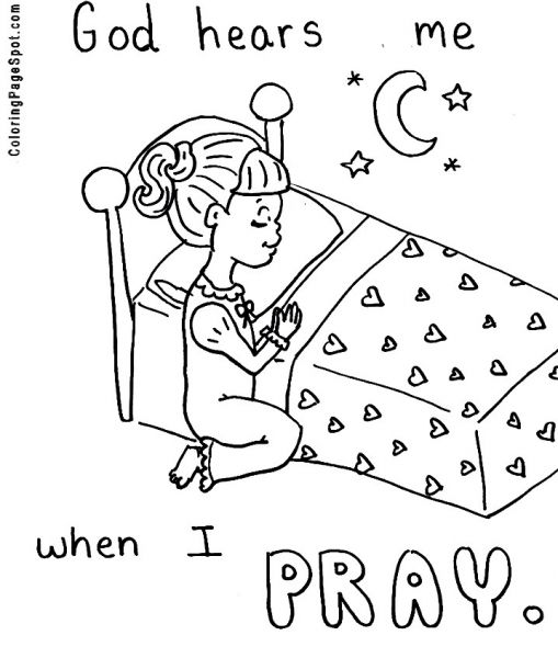coloring pages about prayer - the lord s prayer coloring pages for children coloring home