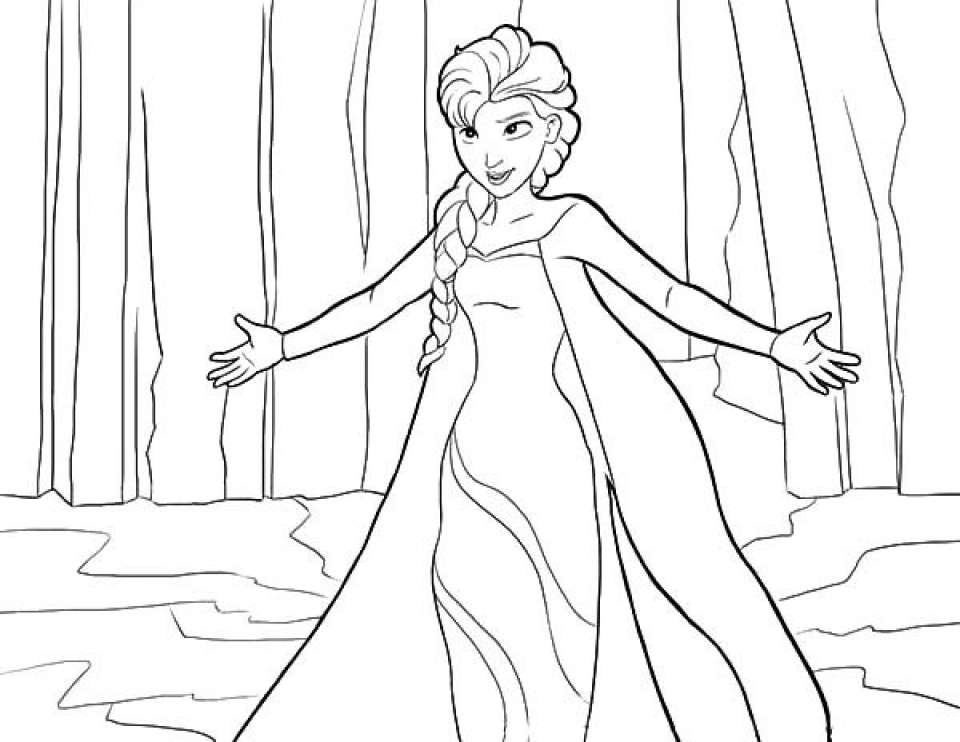 Get This Disney Princess Elsa Coloring Pages Free To Print Tamne1 ! -  Coloring Home