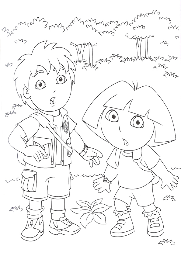 Dora and diego coloring pages free coloring home for Dora and diego color pages