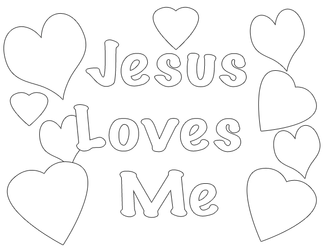 - God Loves Me Coloring Pages - Coloring Home