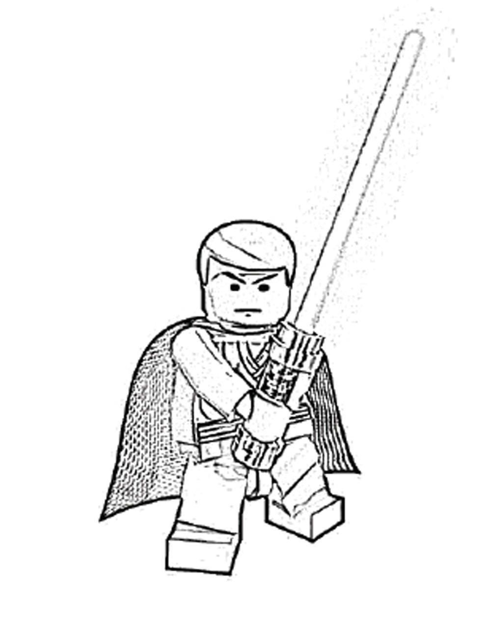 Lego Star Wars Luke Skywalker Coloring Pages Printable