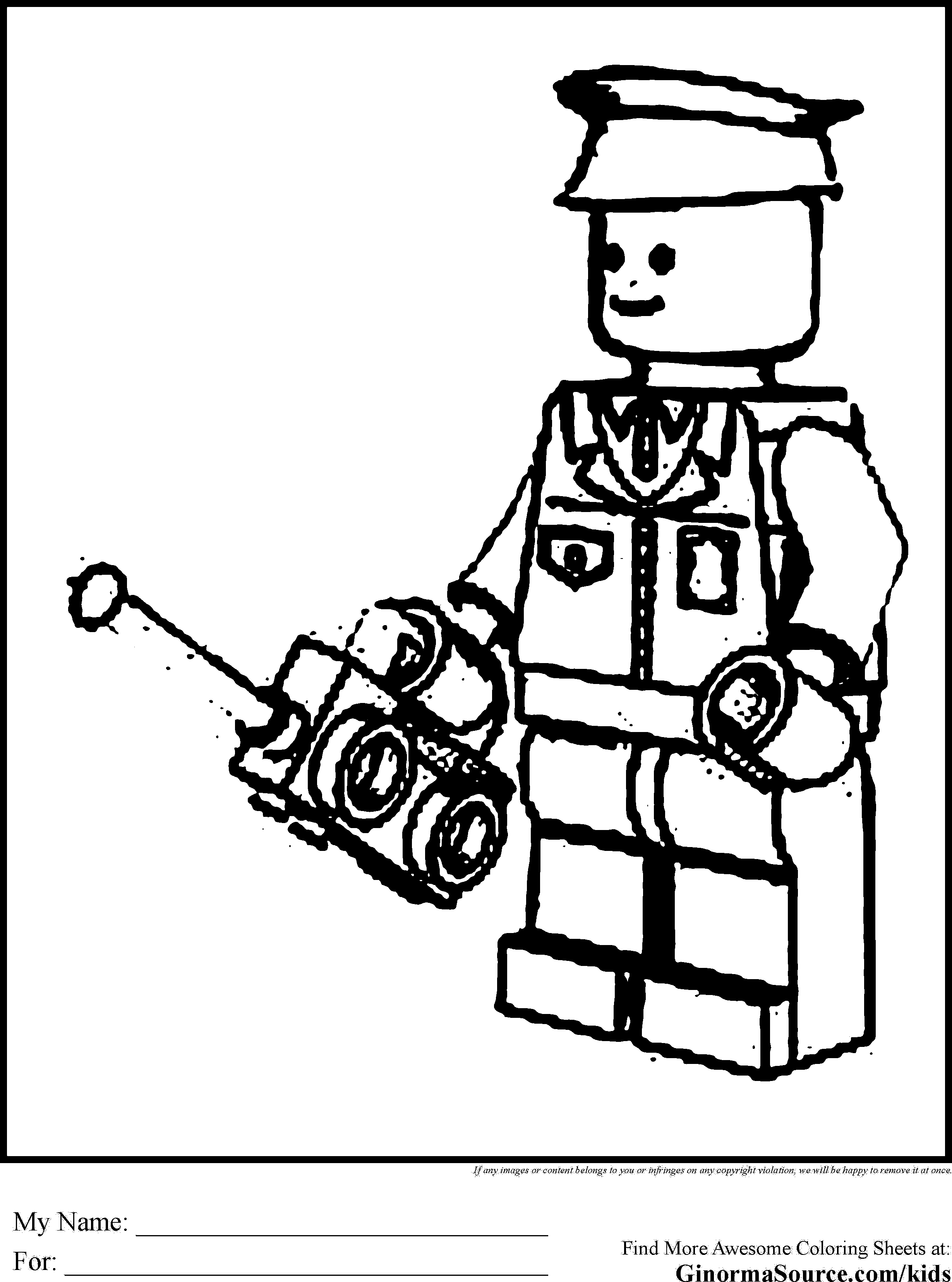 city police lego coloring pages - photo#34