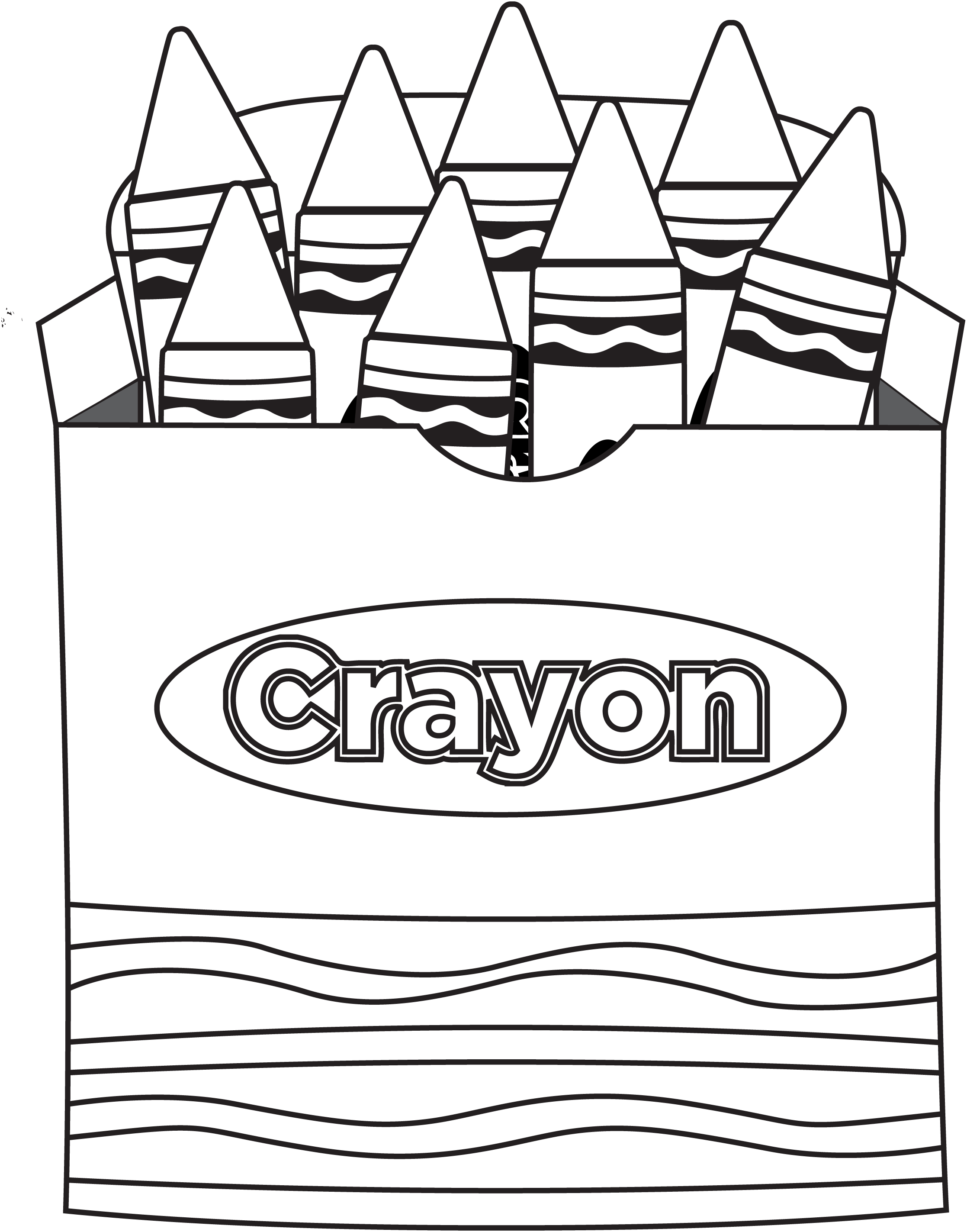 The day the crayons quit coloring page coloring home for Crayon color page