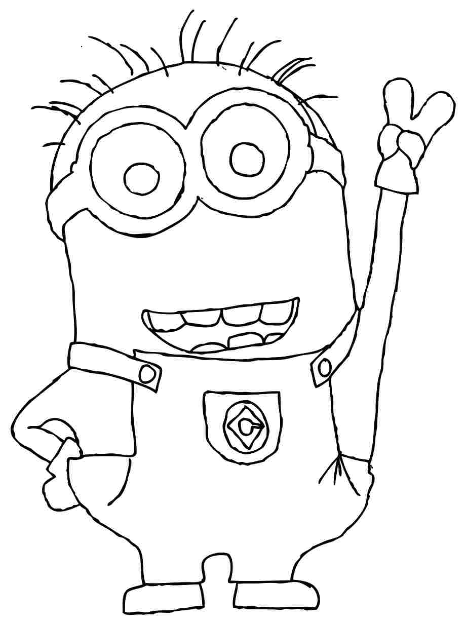 Printable Minions Coloring Pages