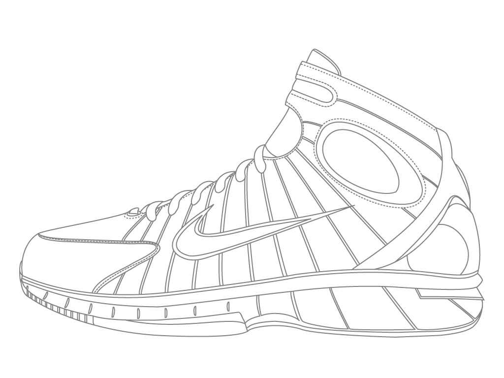 Coloring pages shoes - Jordan Shoe Coloring Page Coloring Home
