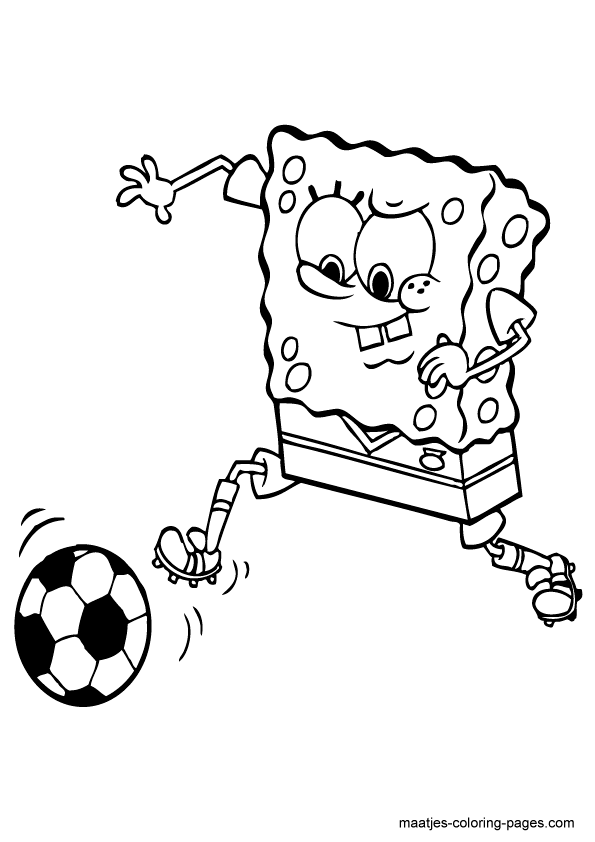 Soccer coloring pages 9 / Soccer / Kids printables coloring pages
