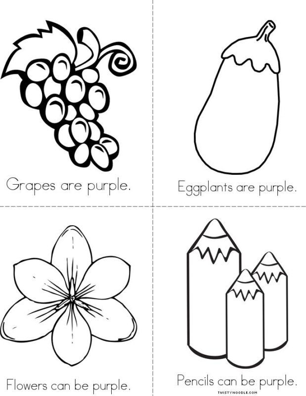 number of pages in the color purple free printable preschool coloring pages things that are