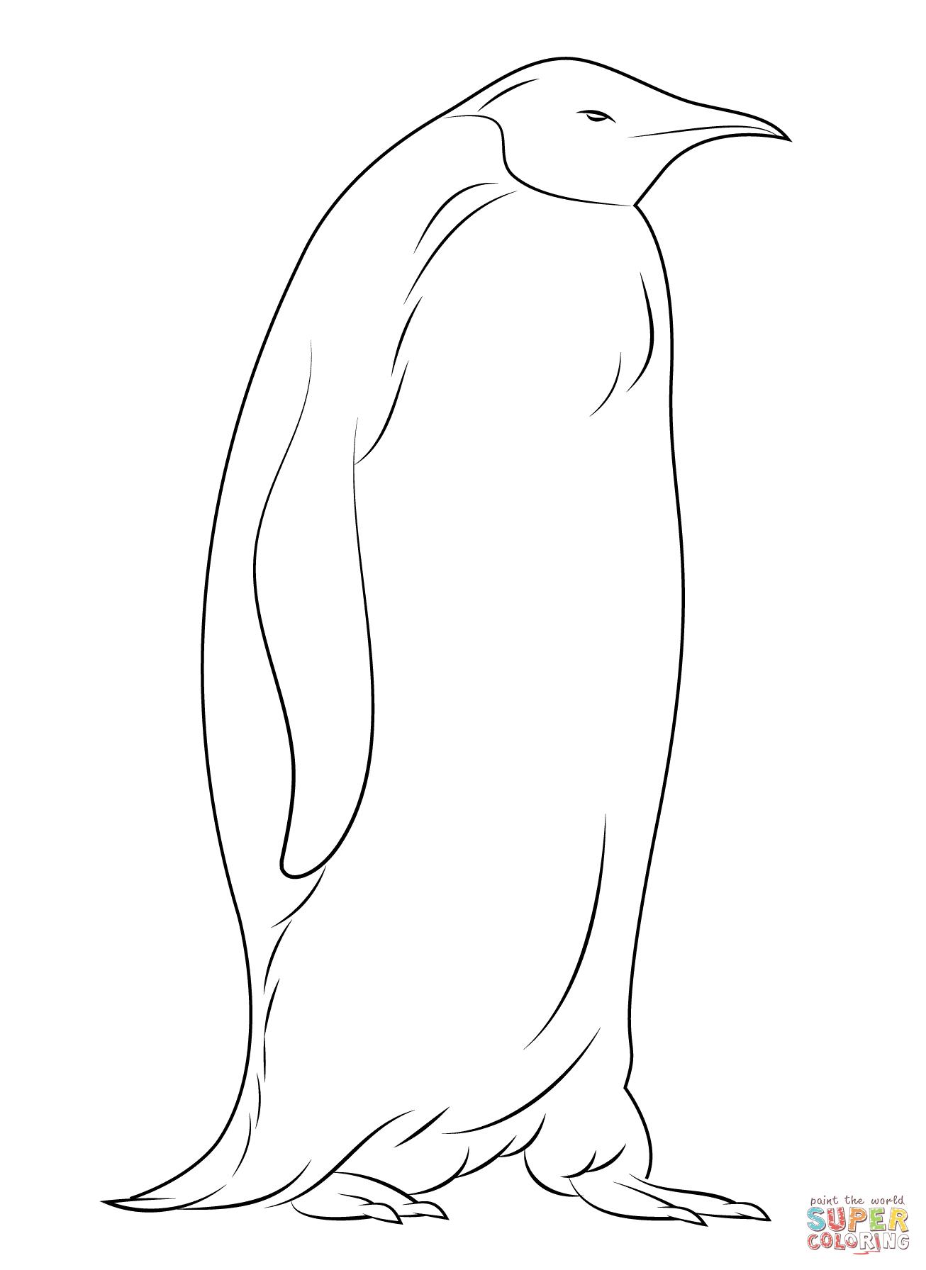 Emperor penguin coloring pages coloring home for Free coloring pages of penguins
