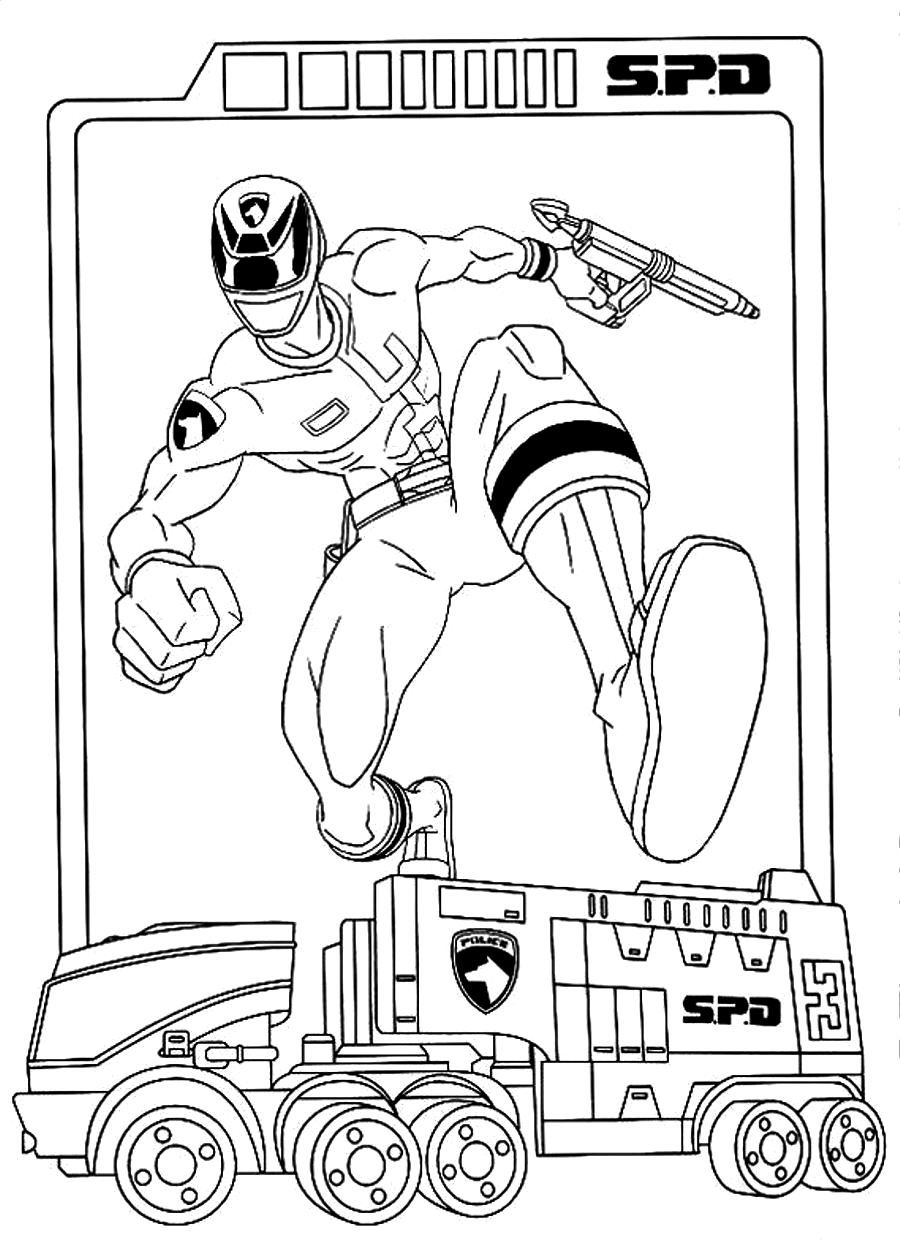 Power Rangers Spd Coloring Pages To Print - Coloring Home