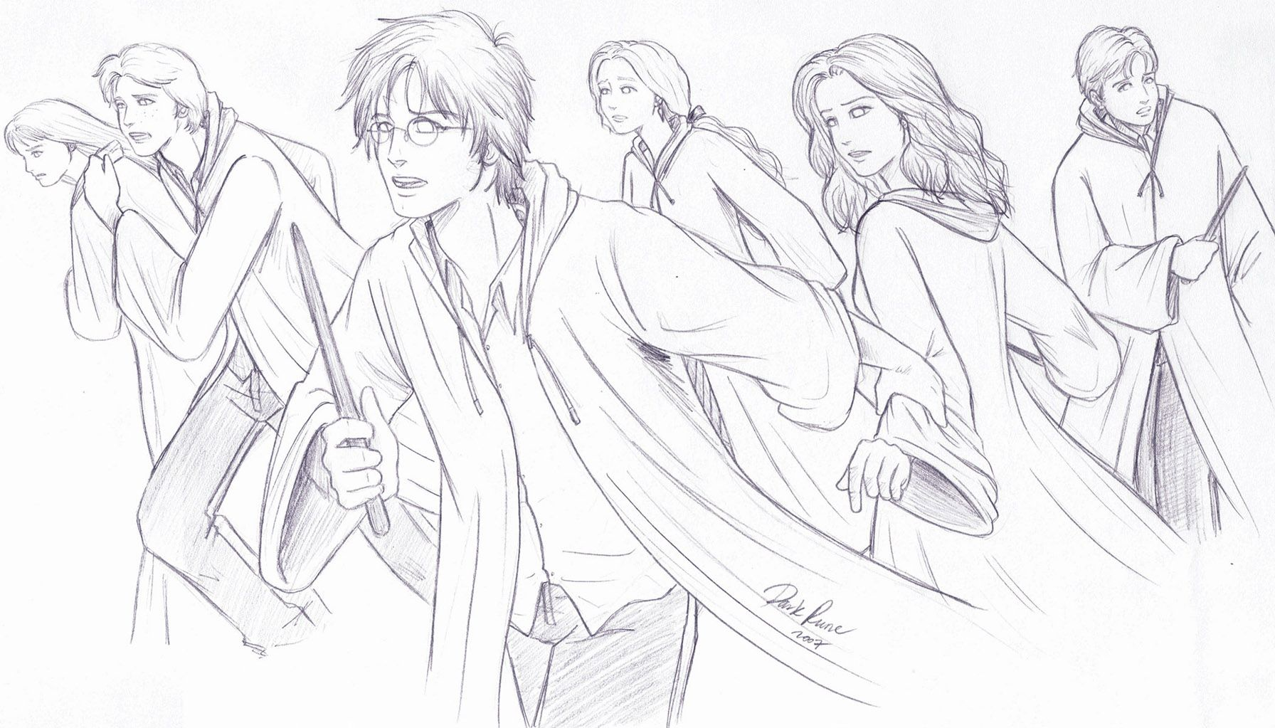 Harry Potter Coloring Pages Ginny - Coloring Home