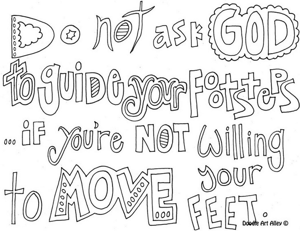 coloring pages of words - quote coloring pages printable coloring home