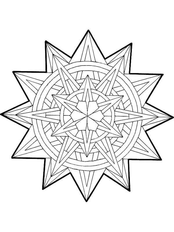 free mandala christmas coloring pages - photo#32