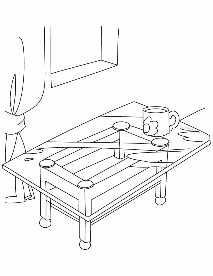 tables coloring pages - photo #18