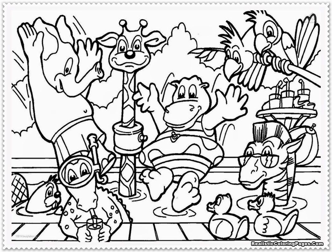 Free coloring pages zoo animals - Zoo Animal Coloring Pages Printable Colorine Net 10367