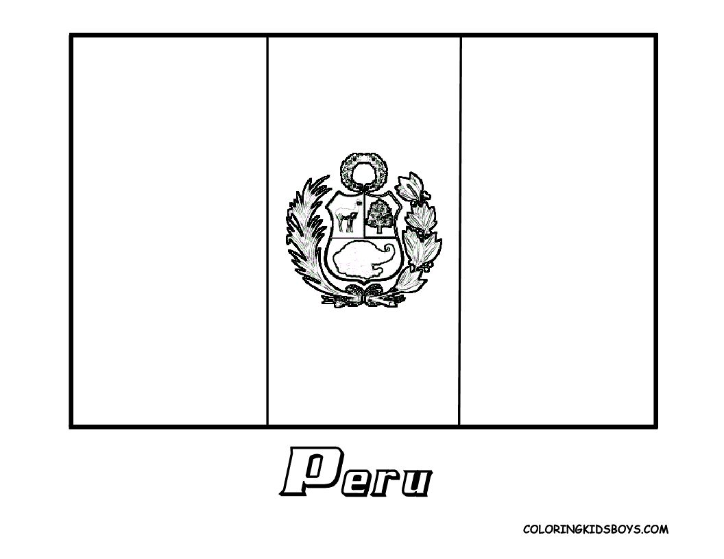 peru flag coloring page free coloring home Peru Coloring Pages Printable  Coloring Pages Peru