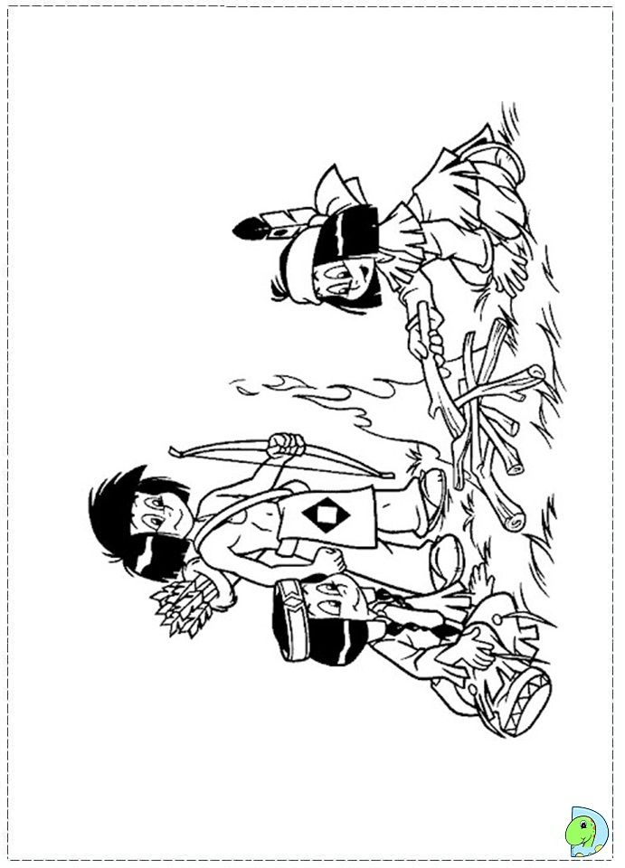 Yakari Coloring Pages Coloring